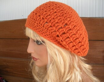 Womens Hat Crochet Hat Winter Fashion Accessories Women Beanie Slouchy Hat Oversized Slouchy Hat in Orange - Choose color