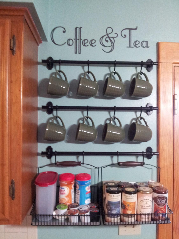 Coffee tea wall art decal for Tea and coffee wall art