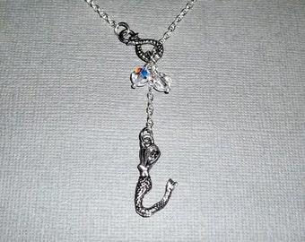 Mermaid Lariat Necklace Women's Necklace Stocking Stuffer Christmas Gifts Beach Jewelry Friendship Gift Mermaid Jewelry
