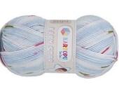 Baby yarn, acrylic yarn, Multicolor, Blue, soft, 1 Skeins, Each skein: 100 gr