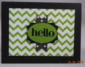 Handcrafted Chevron Friendship, Hello, Thinking of You Card