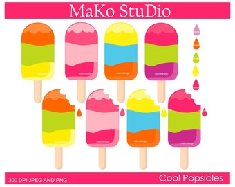 popsicle clipart,. ice pop clipart, summer cool popsicles Digital clip art, Personal or Commercial Use, JPEG and PNG, instant download