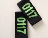 Numbered Armbands - Slip-on or Velcro - Custom colours and size