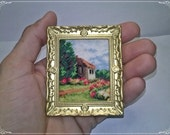 Cottage in Yorkshire, Cross Stitch, miniature