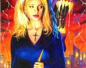 Buffy the Vampire Slayer painting