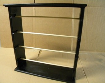 Ribbon rack organizer  holds approx 100 spools brushed gloss black Special sale price