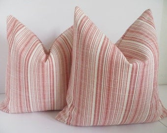 2 Pillow Covers- Coral Pillow Covers- Ivory Coral Pillows- Pillows - Pillow Covers- Set Pillows- Set Of two Pillows- Coral Pillows