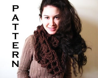 PDF PATTERN - The Aurora Cowl - Cochet Cowl Scarf Chunky Bulky DIY