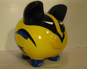 Super hero piggy bank, Personalized, Large , Wolverine Piggy Bank - MADE TO ORDER