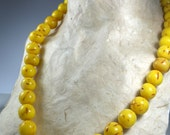 Faux Amber Mala (necklace) (64 cm)