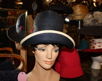 1940's 1950's Straw Hat  Item #201-AH