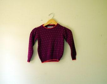 SALE Vintage Osh Kosh B'Gosh Pink Pattern Sweater, Children Size 6