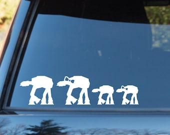 Star Wars At-At Family Car Window Decal Sticker