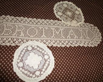 Doilies Vintage Crochet Family Name Brotman