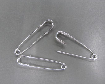 2 inch smooth kilt pins silver or gold