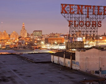 Brooklyn Kentile Floors Sign - Brooklyn Skyline - New York City Photography