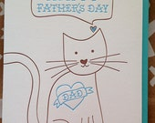 Fathers Day Card from Cat or Dog. Happy Father's Day from the Pet. Funny Father's Day Card. Card for Cat Dad.
