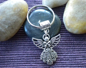 Silver Angel Key ring /Keychain - Guardian Angel