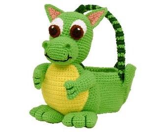 PDF Crochet Dragon Easter Basket. Amigurumi Crochet Pattern - (7340) Td creations