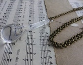 Mermaids Teardrop Necklace Crystal Teardrop Lariat Necklace