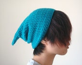 Pixie Hat in Ocean Blue for Women and Men,Elf Hat,Gnome Hat,Slouchy Pointy Hat,Winter Accessories