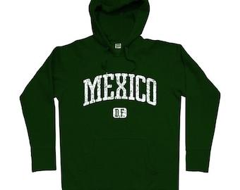 Mexico D.F. Hoodie - Mexico City - Men S M L XL 2x 3x - Mexico Hoody Sweatshirt - 4 Colors