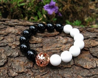 Yin Yang Chi Harmony Spiritual Life Balance Peace Tao Bracelet Positive Energy Wiccan Artisian Jewelry Witch Occult Witchcraft Metaphysical