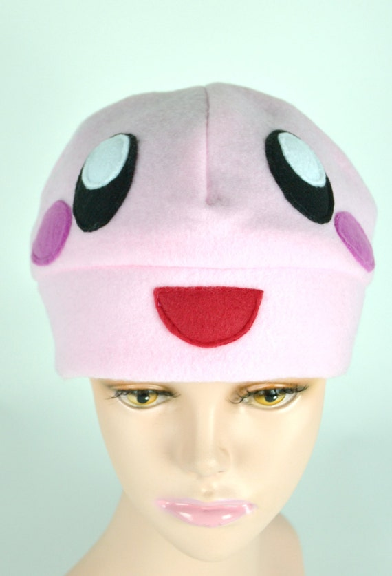 Kirby Inspired Beanie - Kirby Hat - Pink Ball of Fluff that Eats Everything in Sight - Holiday Gift Ideas