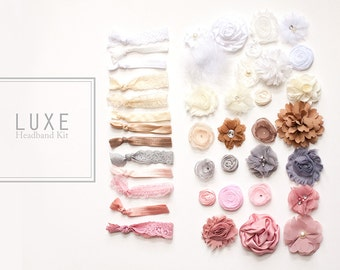 LUXE Headband Kit  - DIY Headbands, Baby Shower or Birthday Party (10 Count) MORE counts at www.lb-boutique.com