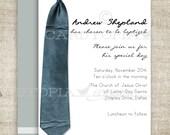 BAPTISM INVITATION LDS Tie Boy Baptism Priesthood Preview Invitation Picture Latter-Day Saint Mormon diy Printable Personalized - 196645060