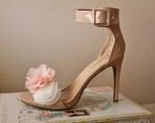 Chiffon Flower Shoe Clips, Wedding Shoe Clips, Flower Shoe Clips, Wedding Flowers, Wedding Acessories
