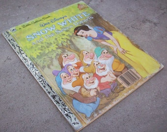 Snow White and the Seven Dwarfs  Little Golden Book Walt Disney's Snow White and the Seven Dwarfs 1984