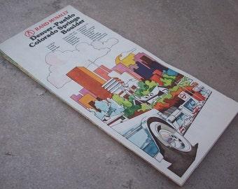 1980 Denver City Street Map  Street map for Denver, Pueblo, Colorado Springs and Boulder Colorado