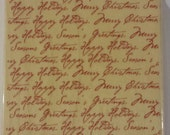 Holiday Sayings Background Rubber Stamp by Delta