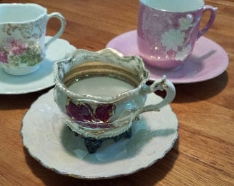 Three Vintage Tea Cup and Saucer Sets