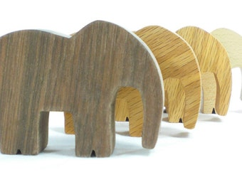 Wooden Animal Toy Party Favor Elephant, Kids Toy, Elephant Toy, Wooden Toy, Wood Toy Animal