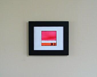 Art Print, Modern Fine Art--Birthday, Anniversary for Her, Nursery art--Chevron and Stripes in Pink, White Orange Black