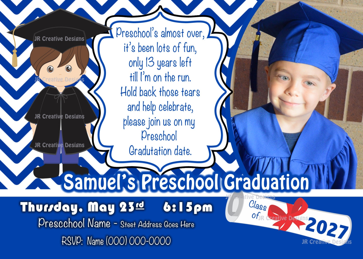 This is a picture of Selective Preschool Graduation Invitations Free Printable