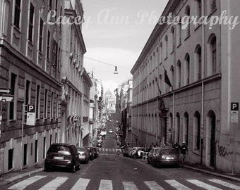 Streets Of Italy Black & white Photographic Print Europe travel adventure