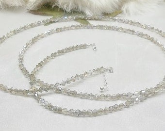Belly Chain Silver AB Crystal Belly Chain Crystal Tummy Chain Hip Belt Adjustable Belly Chain Sterling Silver Body Jewelry BuyAny3+Get1Free