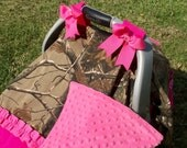 Camo Car Seat Canopy ready to ship