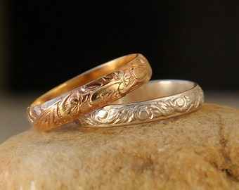 Stacking Rings - Gold Silver Stacking Ring Set