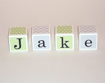 Baby Name Blocks - Prop - Personalized Nursery Decor - Baby Shower Gift