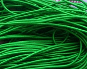 25 metres of 1mm Green Elastic String for beading