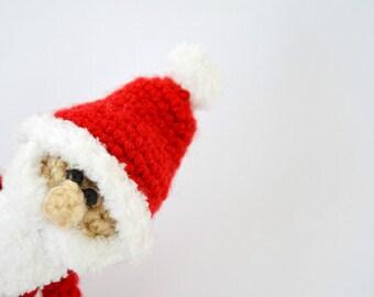 Crochet finger puppet, Crochet Santa Claus, Christmas gift, Amigurumi, Santa Claus, finger puppet