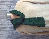 Forest Green Men's Scarf Dark Green Guys Scarf Hand Knit