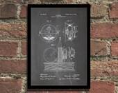 Tesla Circuit Controller Patent Print Steampunk Art Poster