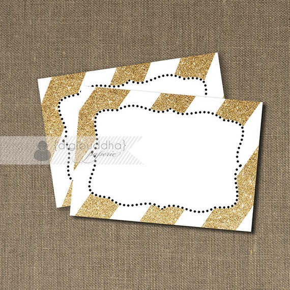 Gold Amp White Glitter Labels Instant Download Sparkly