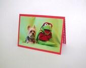 Kermit the Frog Blank Card, Yorkie Dog Card