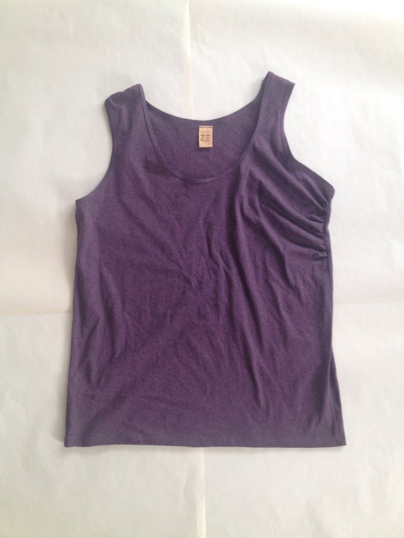 Tank Top, Purple Drape, Medium
